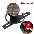 Universal 12V 3W Motorcycle Red Tail Brake Light with License Plate Bracket Set