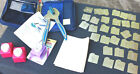 LOT Scrapbooking QUICK KUTZ TOOL CRADLE EXTRAS Alphabet Shapes RIBBON Punches IY