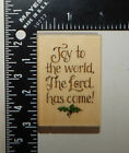 Uptown Rubber Stamps Holly Pond Hill Joy To The World Rubber Stamp E13157