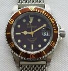 Squale 20 Atmos Rootbeer Y1545 Auto On Squale Sharksmesh Stainless Bracelet