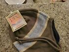 Dorfman Pacific Green Striped one size fits all fleece lined warm winter hat