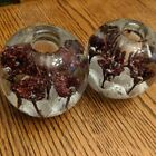 Vintage unique paperweights solid glass candle holders