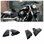 2x Black Motorcycle Battery Side Fairing Cover Fit for Honda Shadow VLX Deluxe