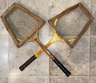 Vintage Pair Of Tennis Rackets In Fair Condition