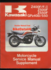 Kawasaki GPZ550 Z550F Z400F (83-85) Supplementary Manual ZX ZR GPZ 550 400 CJ77