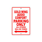 Gold Wing Audio Comfort Parking Only Motorcycle Bike Novelty Aluminum Metal Sign
