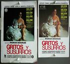 G8101 CRIES AND WHISPERS INGMAR BERGMAN collection of 2 orig SPANISH PRESSBOOK