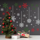 Silver and Coloured Christmas Snowflakes Stickers Xmas Wall Art DIY Art Gift