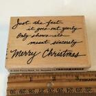 PENNY BLACK SINCERE WISHES CHRISTMAS SAYING Rubber Stamp