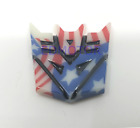 Transformers Decepticon 3d Badge Emblem Carbon Fiber Red Usa America 1 Adhesive