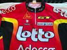 Vintage Nalini French Cycling Jersey Mens size L XL Lotto Red