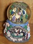 10 Tall Vtg Nativity Musical Snow Globe w Rotating Scene in BaseSilent Night