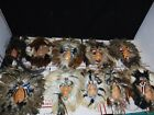 Lot of 10 Native American Indian Spirit Mask Feathers And Beads Wall Hanging