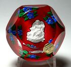 Modern St Louis Sulphide Amour Paperweight with Certificate and Box