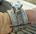 525ct Princess cut Engagement Wedding Band Diamond Ring Solid 14k white Gold