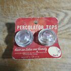 Vintage Anchor Hocking Glass Coffee Percolator Tops With Original Packaging