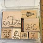 STAMPIN UP LOADS OF LOVE TRUCK HEARTS CHRISTMAS 7 PC Rubber Stamp Set