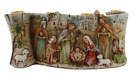 Silent Night Collection Scroll Nativity Scene Advent Candle Holder Approx long