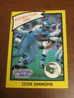 Clyde Simmons 1990 Kenner Starting Lineup Card