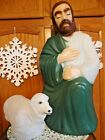 VTG 27 EMPIRE SHEPHERD 18 SHEEP NATIVITY CHRISTMAS BLOW MOLD LIGHT YARD DECOR