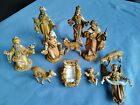 Vtg Christmas Nativity Creche 11 piece Figure Set Fontanini Dep Italy 1991