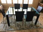 Beautiful Modern Glass Dining Table and Chairs for Sale Best Offer