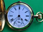 Solid 18ct Gold Quarter Repeater Chronograph Full Hunter Pocket Watch in GWO