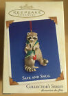 Hallmark Keepsake Ornament 2003 Safe and Snug Raccoons #3 in Series