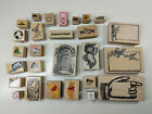 27 Rubber Stamp Assorted Bundle Winnie the Pooh Hello Kitty Mail Scrapbooking