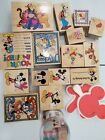 Huge Lot of 16+ Disney MICKEY MOUSE Winne the Pooh wood Rubber Stamps and 2 foam