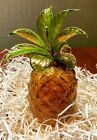 Murano Glass Pineapple Mouthblown New Amber color Venetian Glass Fruit