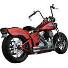 Python 2 2 Staggered Wrapped Dual Exhaust for Harley Softtail