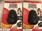 TWO KONG EXTREME BLACK LARGE RUBBER DOG CHEW TOY FREE SHIPPING BRAND NEW