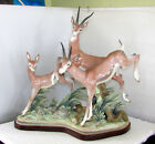 LLADRO FLIGHT OF THE GAZELLES 1067 RETIRED LIMITED EDITION WITH BASE SIGNED MINT