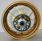 04 Aprilia RSV1000R Colin Edwards OZ Racing Gold Rear Wheel Rim Hub Sprocket
