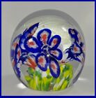 Paperweight Art Glass LILY Globe Shaped Paperweight FLOWER