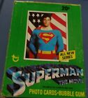 1978 TOPPS SUPERMAN FULL BOX Non Sports Movie Trading CARDS 36 PACKS!