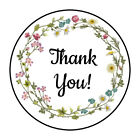 30 15 THANK YOU WILDFLOWER WREATH FAVOR LABELS ROUND STICKERS