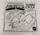 1984 MARVEL SUPER HEROES SECRET WARS TURBO CYCLE INSTRUCTIONS MATTEL CAP
