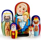 Nativity Russian Matryoshka Nesting 5 Doll Set Hand Painted Import NEW