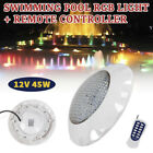 12V 45W Swimming Pool RGB LED Light Spa Underwater Lamp +Remote Controller White