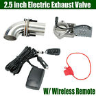 25 inch Electric Exhaust Systems Valve Control Downpipe Cut Out Catback Remote