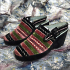 Vintage Edouard Jerrold French 60's Velvet Platform Wedges Shoes - Size 9B