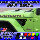 Strobe Fender Vent Decals For Jeep Wrangler Rubicon JL 2018 2019+
