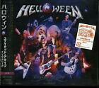 HELLOWEEN United Alive In Madrid CD 3CD plus PROMO MOUSE CAN BADGE POSTCARD New