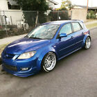 Mazda 3 Fender Flares CONCAVE Mazdaspeed3 MPS Wide Body Wheel Crches 70mm 4pcs