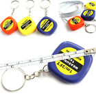 1Pc Mini keychain key ring easy retractable tape measure pull ruler BEFD