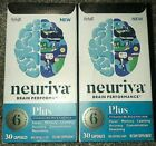 Lot of 2 Neuriva PLUS Brain Performance Health For Memory Learning 60 Caps TOTAL