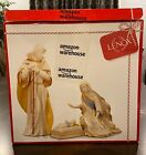 LENOX First Blessing Nativity The Holy Family 3 piece Figurine Set in Box