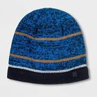 Boys' Striped Marled Reflective Beanie with Duo Dry by C9 Champion - Blue